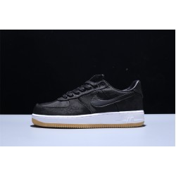 CLOT x Fragment Design x Nike Air Force 1 Premium Game Schwarz Herren Damen Turnschuhe