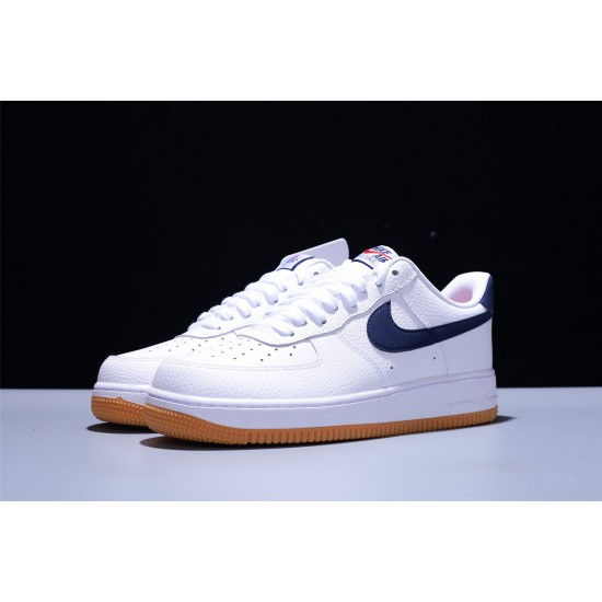 Dior x Nike Air Force 1 07 Low AF1 Herren Damen Turnschuhe Weiß Dunkelblau