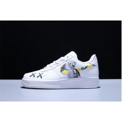 KAWS x Nike Air Force 1 07 Low AF Herren Damen Turnschuhe Weiß