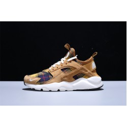 Nike Air Huarache Run Premium Herren Damen Laufschuhe Brown Weiß