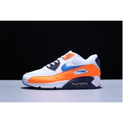 Nike Air Max 90 Essential Laufschuhe Herren Damen Weiß Orange